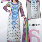 Latest 3 Piece Embroided Lawn Suits With Chaffon Dupatta For Women 001