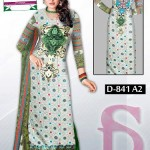 Latest 3 Piece Embroided Lawn Suits With Chaffon Dupatta For Women 0010