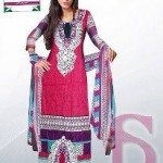 Latest 3 Piece Embroided Lawn Suits With Chaffon Dupatta For Women 0011