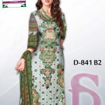 Latest 3 Piece Embroided Lawn Suits With Chaffon Dupatta For Women 0014