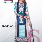 Latest 3 Piece Embroided Lawn Suits With Chaffon Dupatta For Women 0015