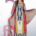 Latest 3 Piece Embroided Lawn Suits With Chaffon Dupatta For Women 002