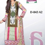 Latest 3 Piece Embroided Lawn Suits With Chaffon Dupatta For Women 003