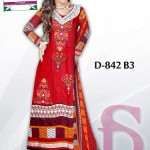 Latest 3 Piece Embroided Lawn Suits With Chaffon Dupatta For Women 004