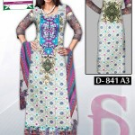 Latest 3 Piece Embroided Lawn Suits With Chaffon Dupatta For Women 005