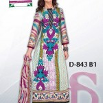 Latest 3 Piece Embroided Lawn Suits With Chaffon Dupatta For Women 006
