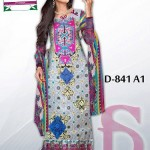 Latest 3 Piece Embroided Lawn Suits With Chaffon Dupatta For Women 007