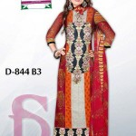 Latest 3 Piece Embroided Lawn Suits With Chaffon Dupatta For Women 008
