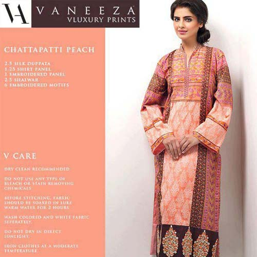 VANEEZA VLAWN PRINTS Spring Collection 2013 For Women 008