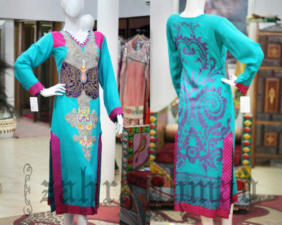 Zahra Ahmed Dresses Collection 2013 For Women 2013 008