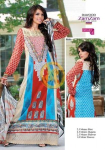 Zam Zam Chiffon Lawn Volume 2 By Dawood Collection 2013 For Women 0010