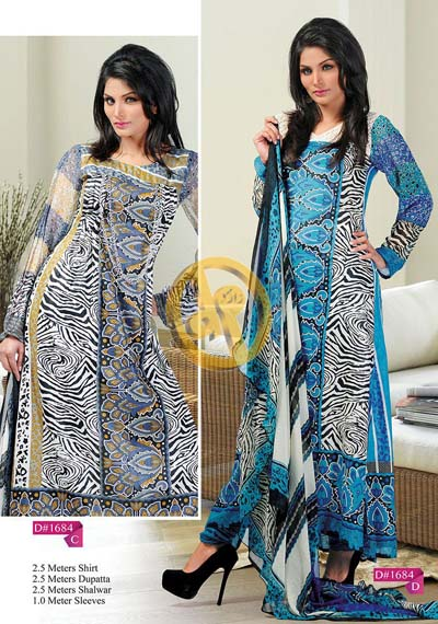 Zam Zam Chiffon Lawn Volume 2 By Dawood Collection 2013 For Women 009