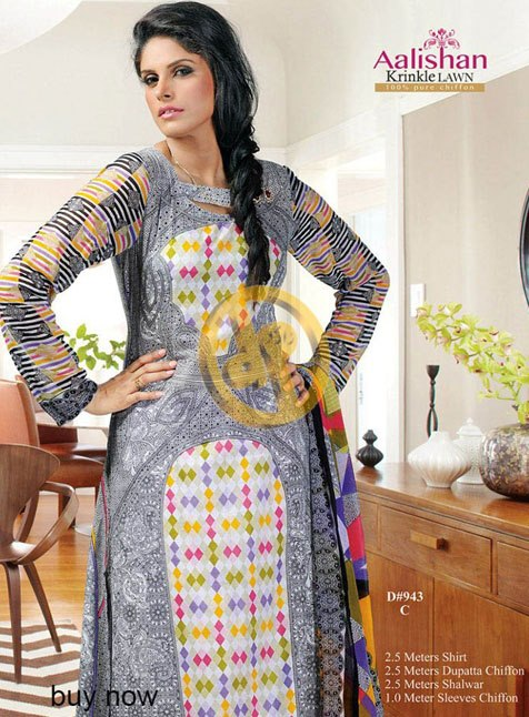 Aalishan Chiffon Lawn 2013 by Dawood Textile For Women 002