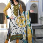 Aalishan Chiffon Lawn 2013 by Dawood Textiles For Women 001