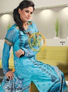 Aalishan Chiffon Lawn 2013 by Dawood Textiles For Women 003