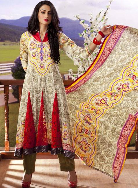 Anum Lawn Vol 2 by Al Zuhaib Collection 2013 For Women 001