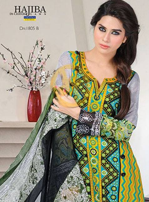 Dawood Hajiba De Chiffon Lawn Collection 2013 Vol 2 For Women 002
