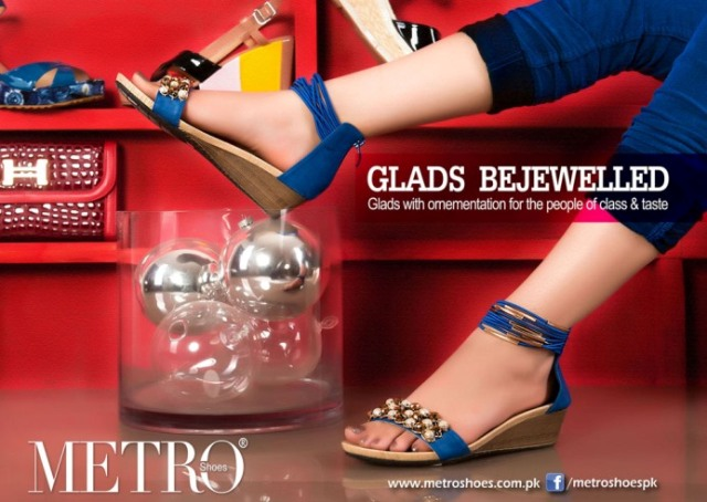 Glads bejewelled Metro shoes 2013 for ladies