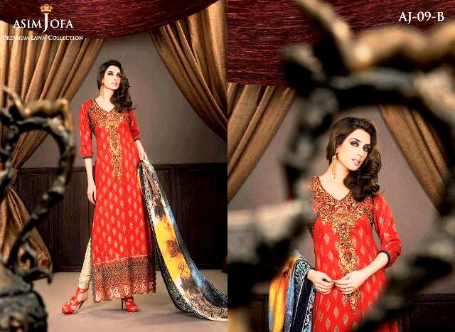 Lateest Asim Jofa Lawn Complete Collection with Iman Ali