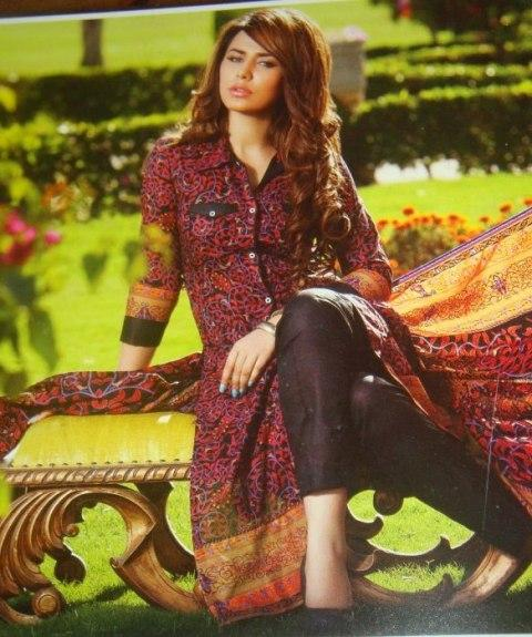 Collection 2013 Textiles Crystal Lawn Ittehad For Women