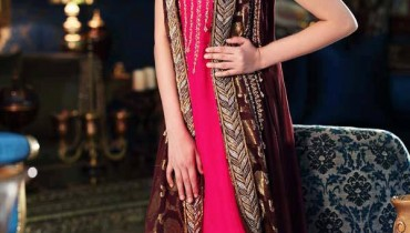 Jawwad Ghayas Clothing Exclusive Party Wear Long Sleeveless Dresses 2013 For Ladies 001