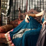 Jawwad Ghayas Clothing Exclusive Party Wear Long Sleeveless Dresses 2013 For Ladies 003
