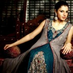 Jawwad Ghayas Clothing Exclusive Party Wear Long Sleeveless Dresses 2013 For Ladies 005