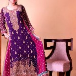 Jawwad Ghayas Clothing Exclusive Party Wear Long Sleeveless Dresses 2013 For Ladies 006
