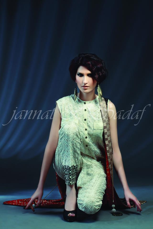 Latest Summer Arrivals Dresses 2013 For Women By Jannat and Sadaf (4)