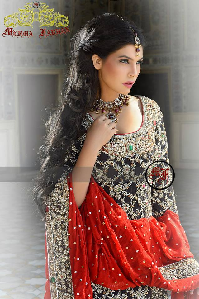 Mehma Farhan Pakistani Wedding Dress Collection 2013 For Ladies (1)