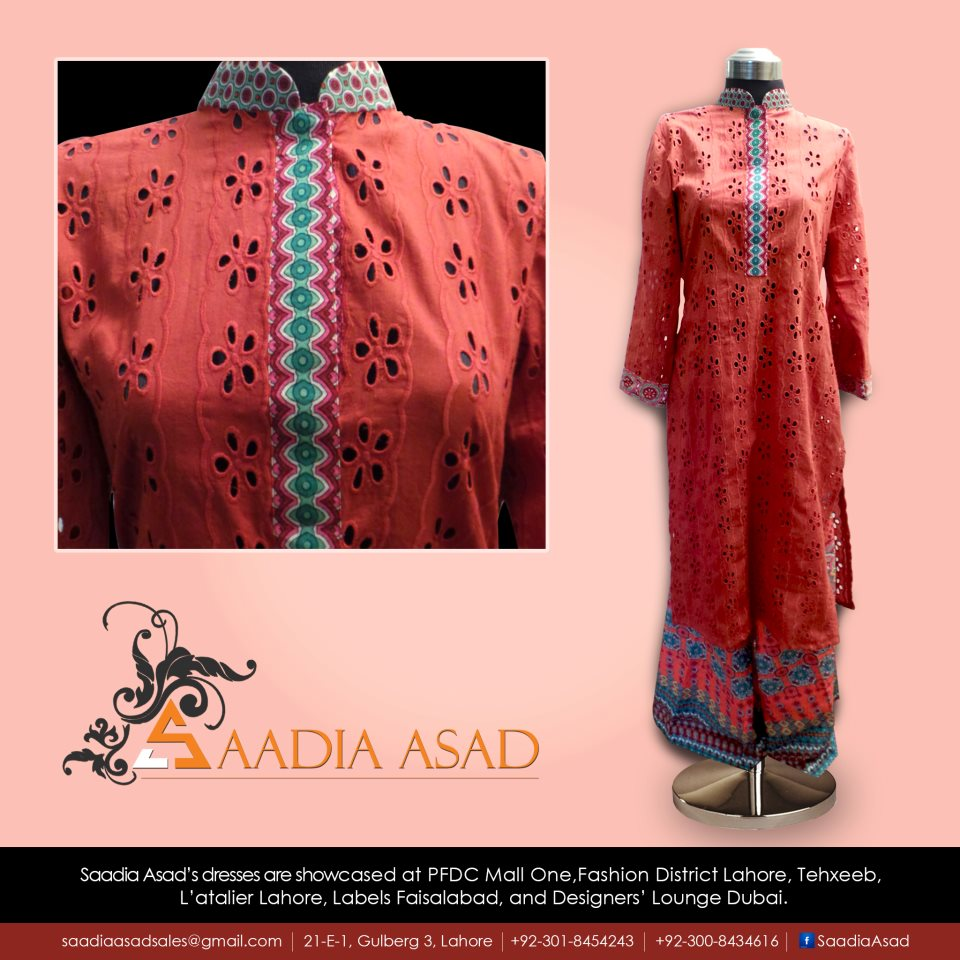 Saadia Asad Latest Party Wear Summer Dress Collection 2013 (4)