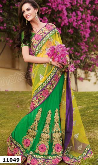 Shringaar Sarees Collection Natasha Couture 2013 For Women