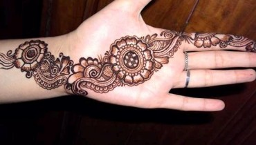 Eid Hand Mehndi Designs 2012 For Girls