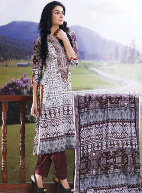 Anum Lawn Collection 2013 Vo  2 by Al Zuhaib For Women 002