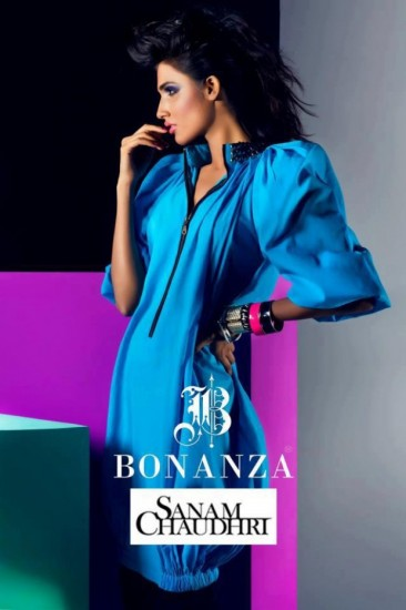 Bonanza Summer Lawn party Wear By Sanam Chaudhry 2013-2014