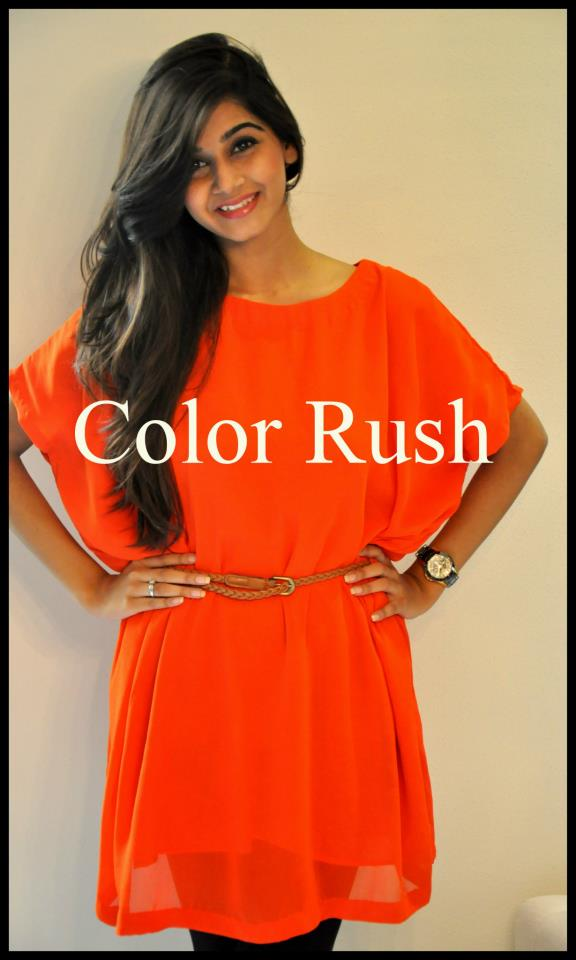 Color Rush Casual Wear Dresses 2013 for Women & Girls 009