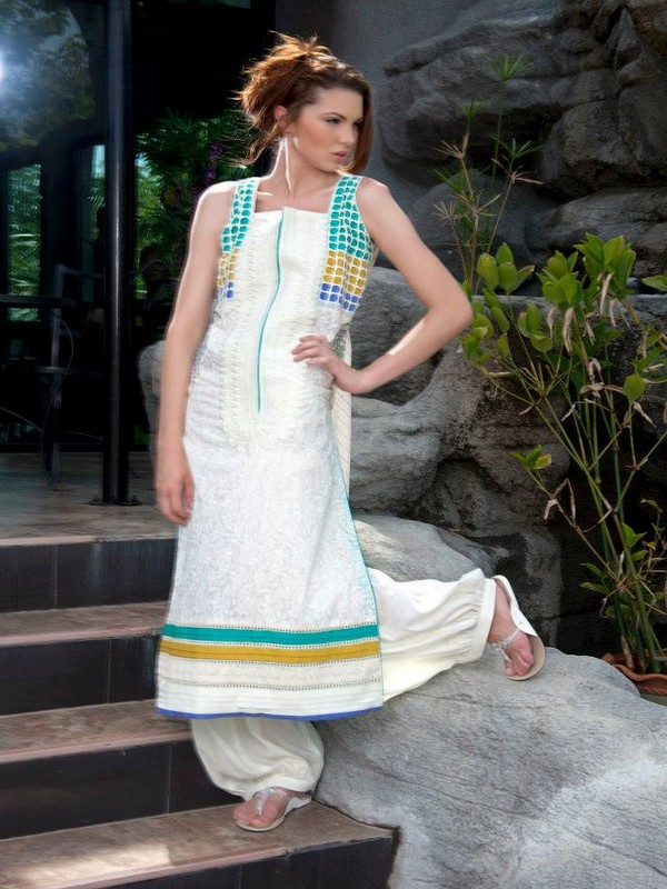 Lakhany Silk Mills Latest Kurti Collection 2013 For Women LSM Fabrics (4)