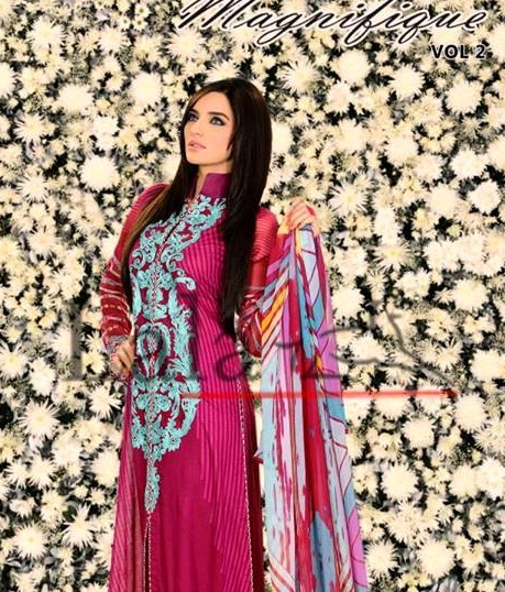 Lala Textiles Magnifique Lawn Volume-2 Collection 2013 (8)