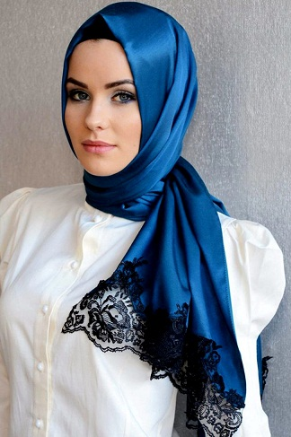 Latest Arabic Scarf New Collection 2013-14 For Ladies (1)