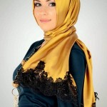 Latest Arabic Scarf New Collection 2013-14 For Ladies (2)