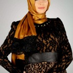 Latest Arabic Scarf New Collection 2013-14 For Ladies (3)