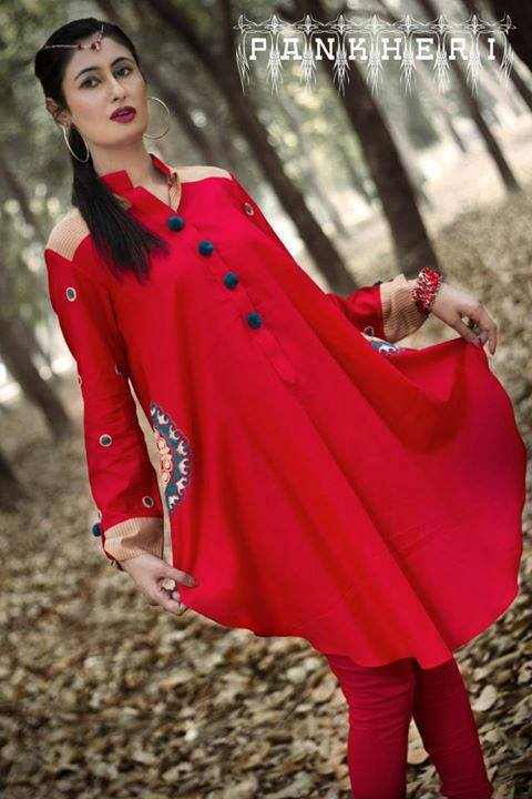 Latest Eid Dress Collection Casual Wear 2013 By Pankheri (1)