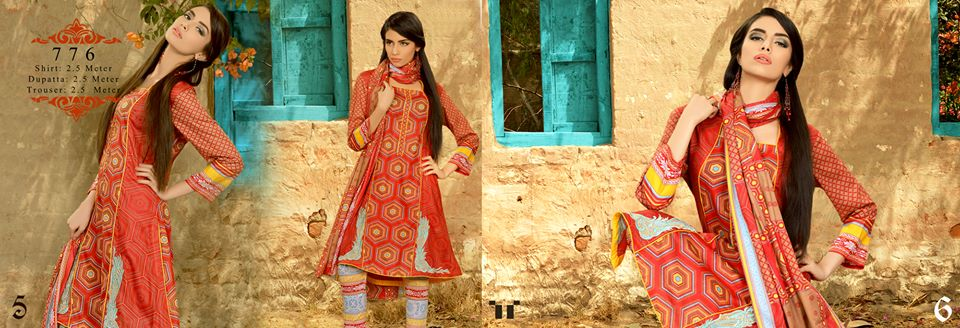 Latest Eid Lawn Collection 2013 for Women & Girls by Ittehad Textiles 006