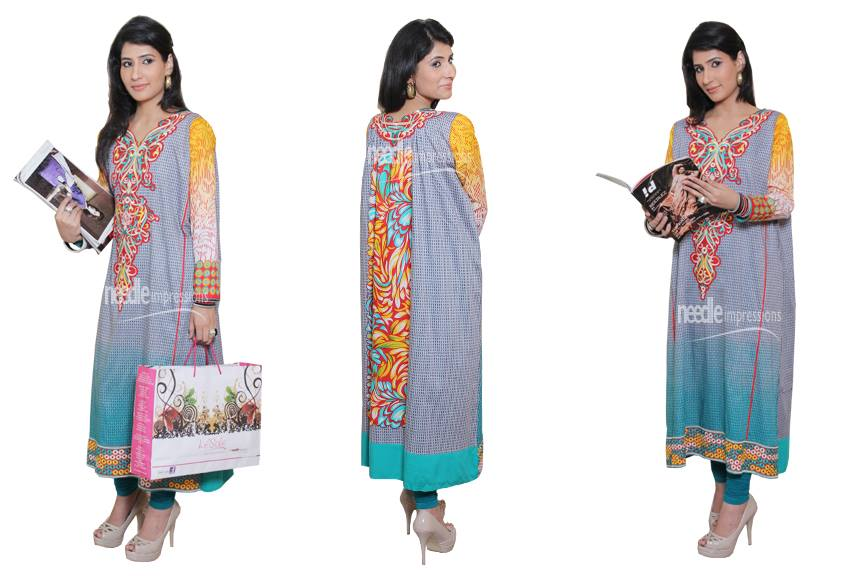 Latest Party Wear Collection 2013 For Women & Girls by Needle Impressions 006