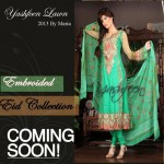 Yashfeen Lawn Eid Collection Summer 2013 For Girls 007