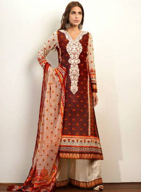 Mehndi Zaheer : Zaheer abbas lawn for women dresses collection