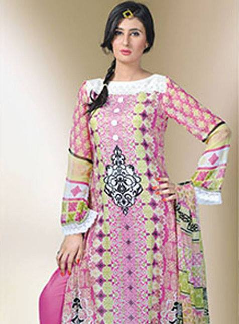 Aalishan Chiffon Latest Dresses Lawn 2013 by Dawood Textiles 001