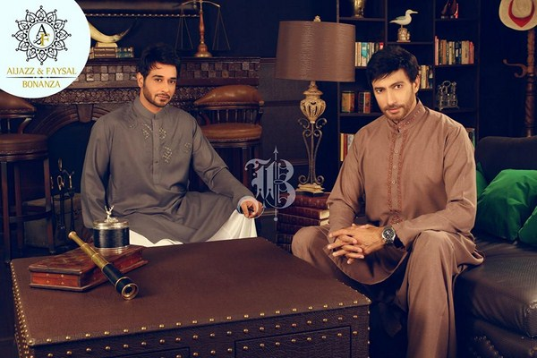 Bonanza Garment Men's kurtas shalwars Dreses For Eid 2013