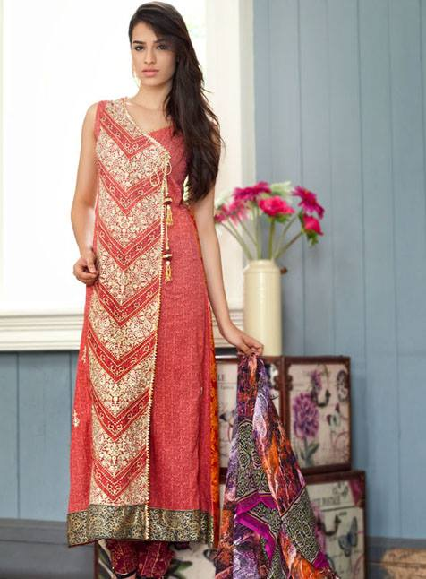 Feminine Limited Eid Collection 2013 by Shariq Textiles For Women 001