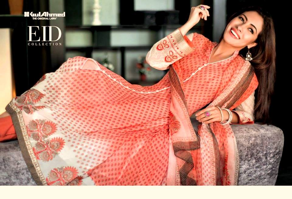 Gul Ahmed Bold & Bright Eid Collection 2013 For Women 001